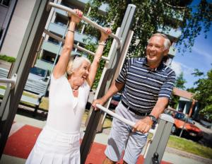 The new park is helping seniors stay fit. [picture courtesy of Lappset Group]